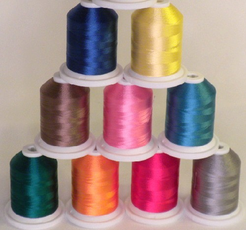 Robison-Anton Super Strength Rayon Machine Embroidery Thread Solid Colors