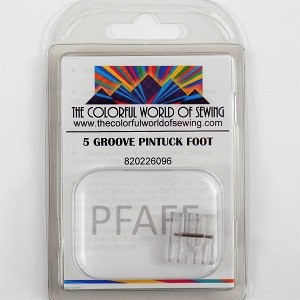 7 Groove Pin Tuck Pintuck FOOT FOR PFAFF SEWING MACHINES PART# 93-042953-91