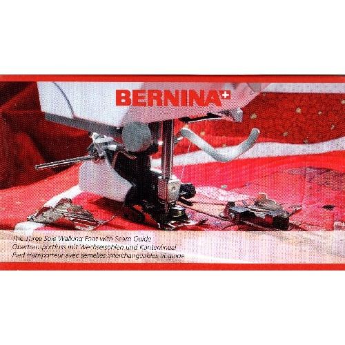 Bernina Genuine #50 Three Sole Walking Foot with Seam Guide