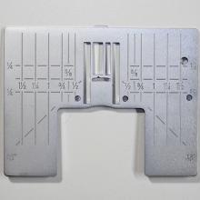 Husqvarna Viking Zig Zag Needle Plate In Inches for Diamond, Brilliance, Ruby, Topaz, Sapphire, Opal