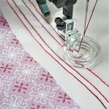 Echo Ruler Quilting Foot Set for High Speed Straight Stitch Machines
